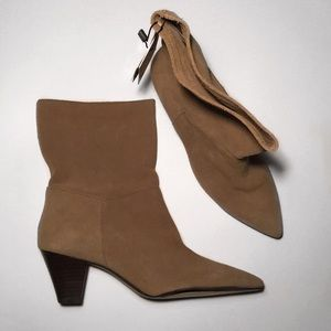 ZARA WOMAN LEATHER SIZE 37 Boots/Booties NWT